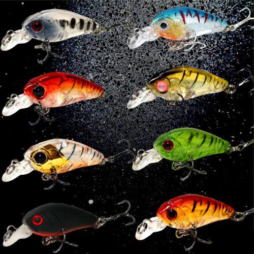Wobbler Holo Bait 3,5cm 4g viele Farben Crank Forelle Rapfen Zander Barsch Bass