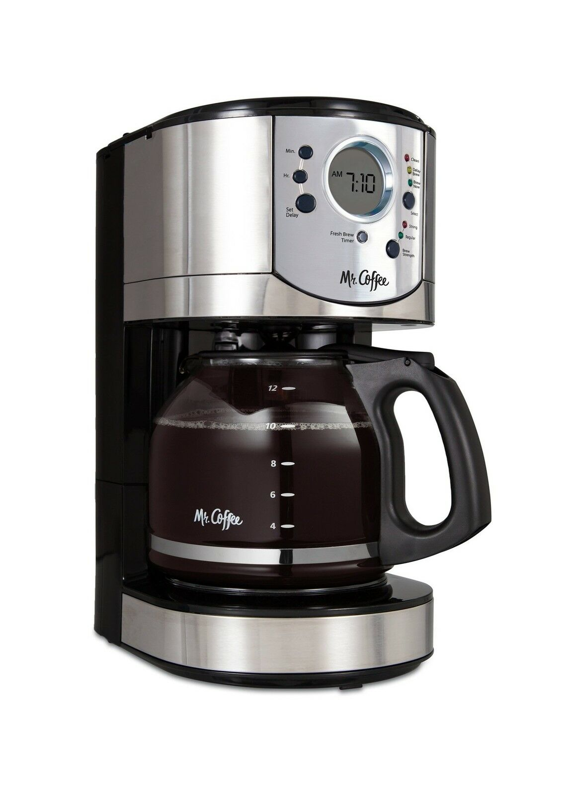 Mr. Coffee 12-Cup Programmable Coffee Brewer with Brew Strength... Free Shipping