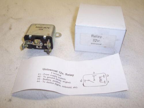NORS Universal 12 volt Relay 4 terminal
