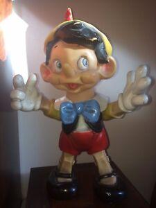 Jouet Ancien Pouet Pinocchio Articule Walt Disney Elephant Circa 1960