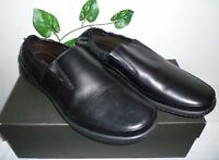 Bruno Magli Black Men's Leather Soft Italy Stretch Loafers Shoes Size 12