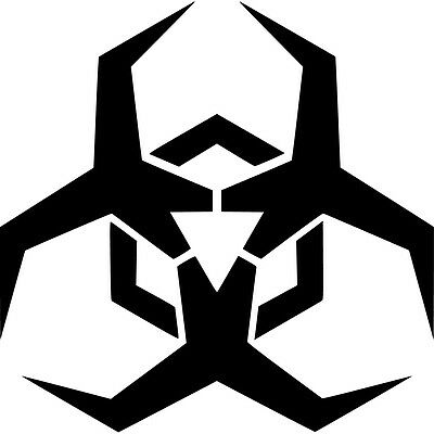 Biohazard triangle vinyl decal sticker for wall car laptop many colors and sizes