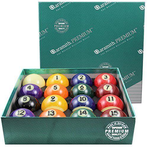 Aramith 2-1/4 Regulation Size Premium Billiard/Pool Balls, Complete 16 Ball Set