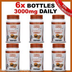 6-x-BOTTLES-TURMERIC-PILLS-95-CURCUMINOID-LONGA-LINN-PURE-TUMERIC-ANTIOXIDANT