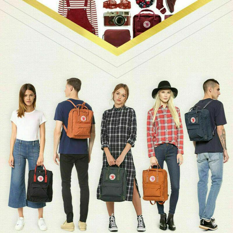 7/16/20 L Fjallraven Kanken Handbag Waterproof Sport Backpack Outdoor Travel Bag 6