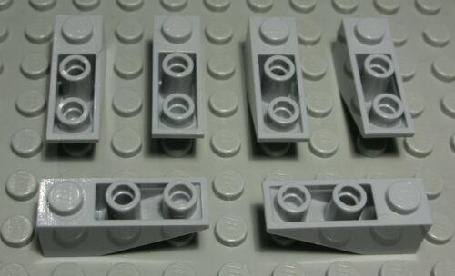 2497 Lego Stein schräg negativ 1x3 new Grau 6 Stück