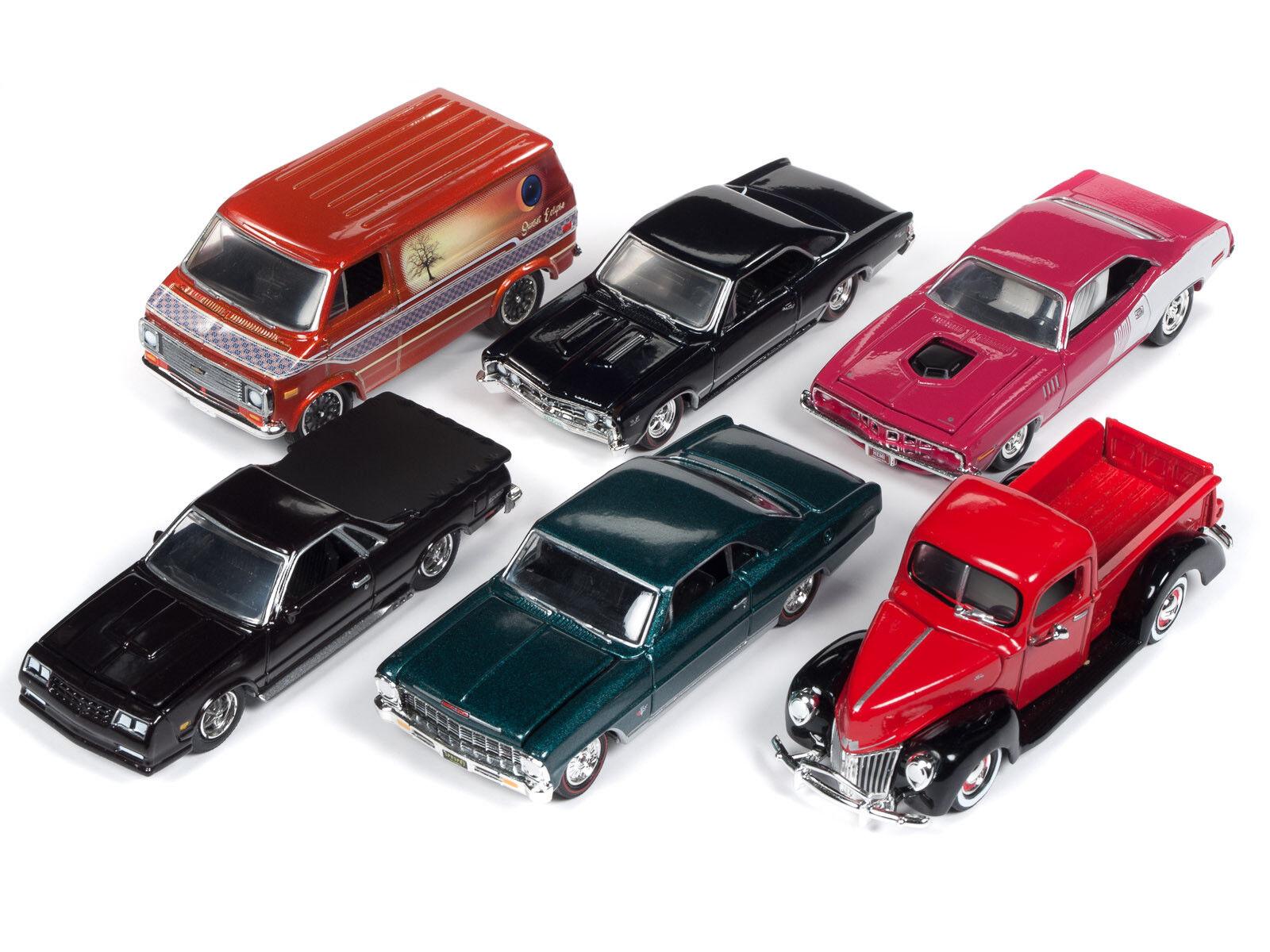 Menta 2018 versión 3, set B de de de 6 coches 1 64 diecast Racing Champions RC009 B por 64c5df