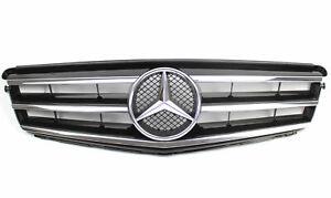 Mercedes-Benz-Grill-Kuehlergrill-Avantgarde-Sportpaket-schwarz-W204-S204-C-Klasse