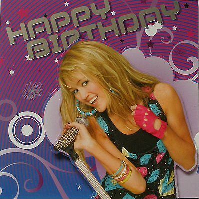 Disney Hannah Montana Girls Birthday Card
