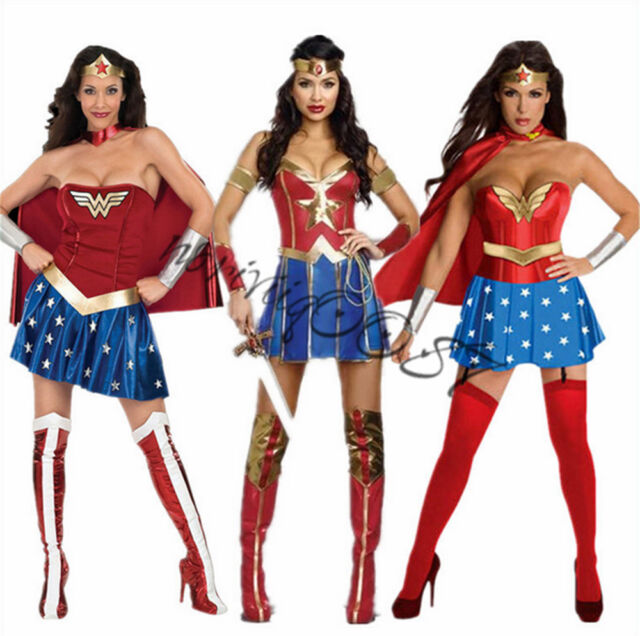 adult sexy wonder woman cosplay costumes superwoman corset outfit halloween hot