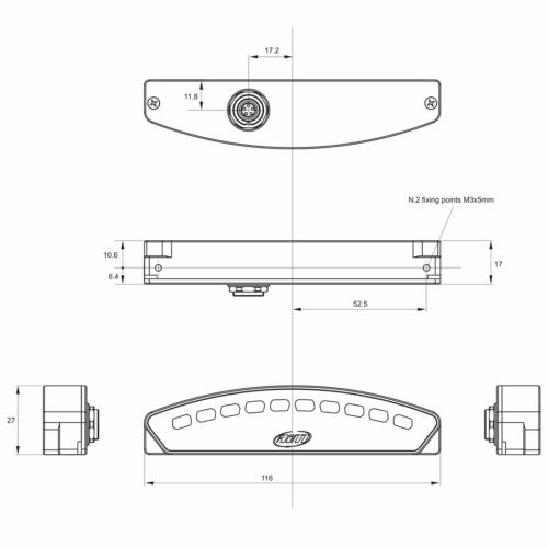 AIM Motorsport Shift Light Module//REV Light//Gear Shift Indicator