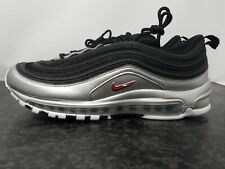 NIKE AIR MAX 97 METALLIC SILVER VARSITY RED SZ 8.5 RARE