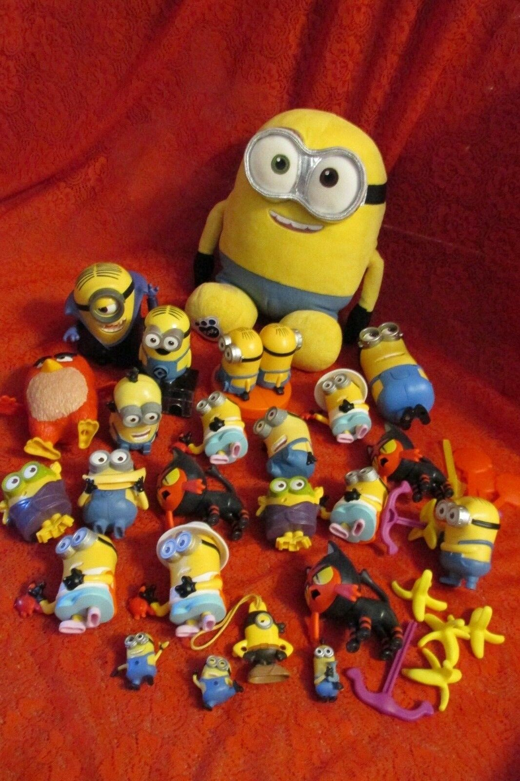 Despicable Me Minions Pokemon Toys Huge Lot of Mac D and a Build a Bear Minion