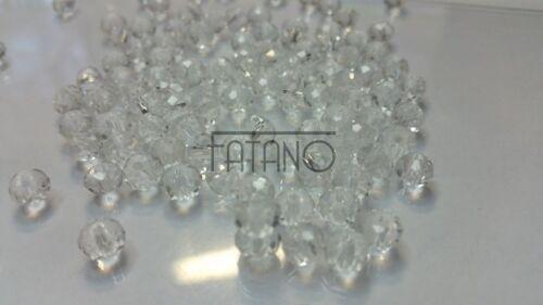 100 losanges 6 mm clair acrylique perles à facettes PLAT Double Cône Bijoux k34