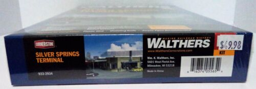 HO Scale Walthers Cornerstone 933-2934 Silver Springs Bus Terminal Building Kit