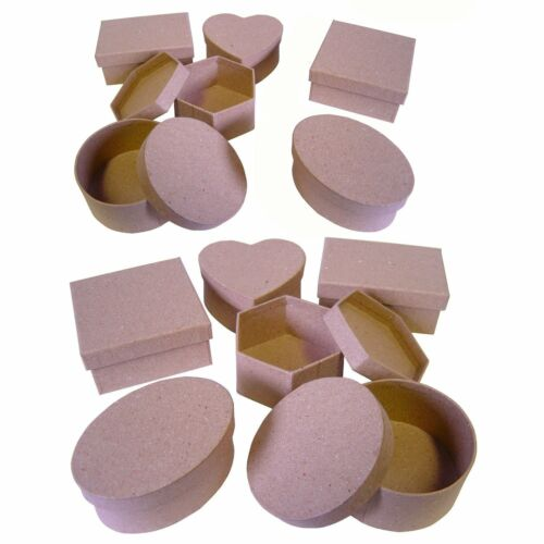 Gift box Set of 12 Paper Mache Boxes  7070-12