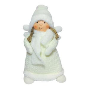 GRANDE-NATALE-SNOW-Angel-peluche-fata-Ornamento-Decorazione-45-CM-Bianco-Nordico