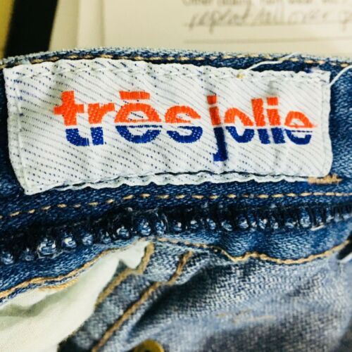 """Details about  /Vtg Womens 3//4 Tres Jolie Blue Jeans High Waist Mom Pleated Tapered 30/"""" Inseam"""