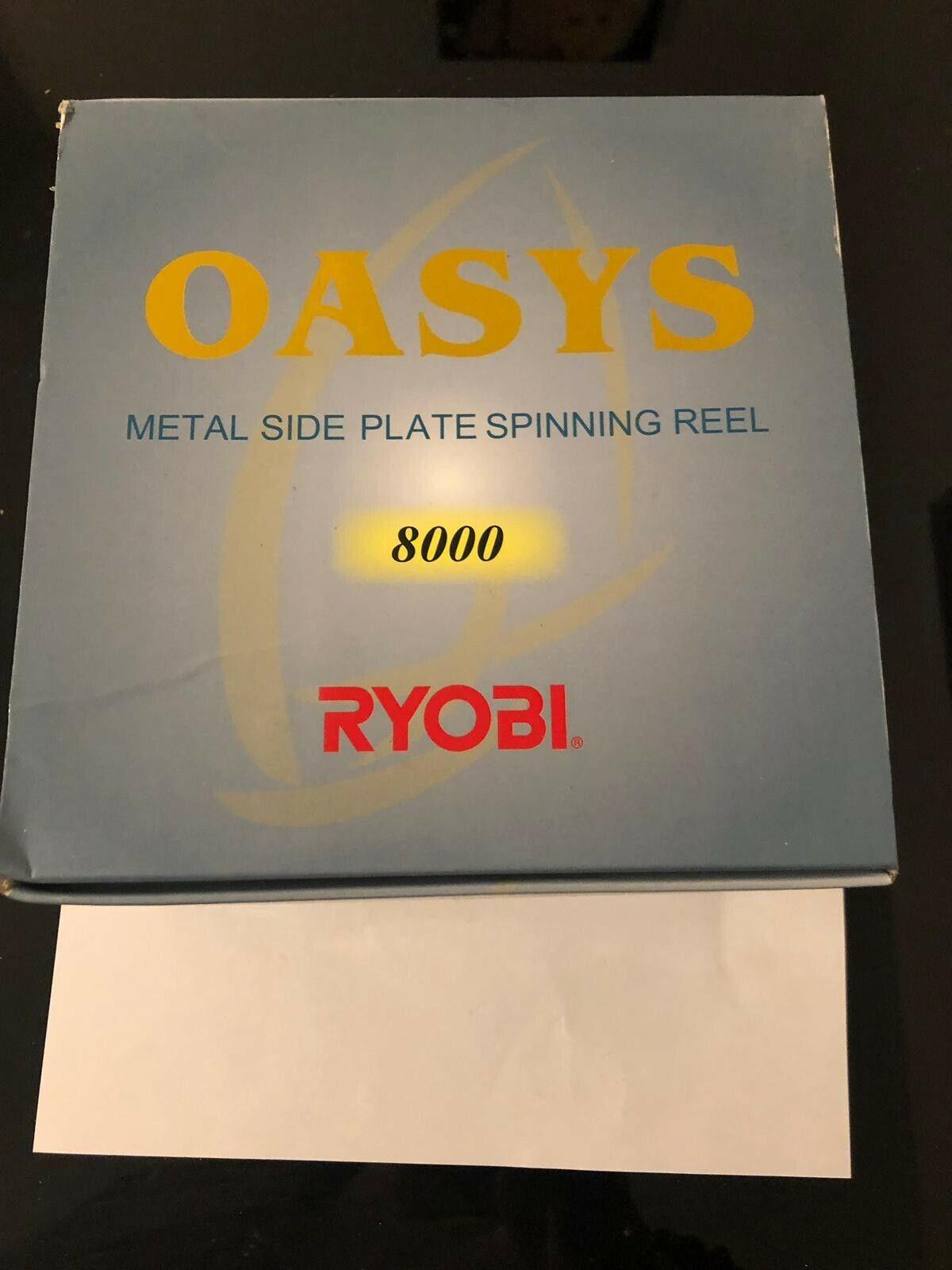 Nuevo Reel De Pesca RYOBI TUBERTINI 8000 RPM, PLATEADA