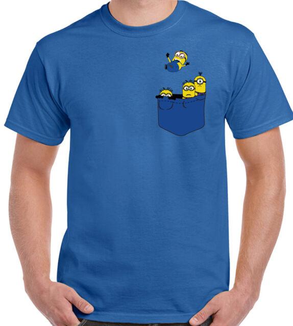 Pocket Minions - Mens Funny Minion Parody T-Shirt