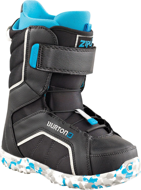BURTON Zipline Snowboard Stiefel Gr. 38 (US 6) Kinder Grom Youth Anfänger schwarz