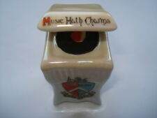 C1920S VINTAGE MARGATE CRESTED CARLTONWARE MUSIC HATH CHARMS CABINET GRAMOPHONE
