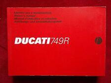 DUCATI 2005 749R ORIGINAL OWNERS MANUAL DUC009