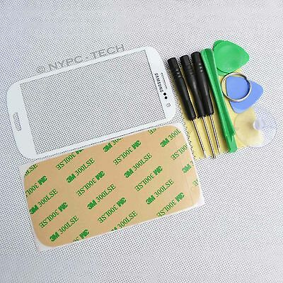 Replacement Front Glass Screen Lens for White Samsung Galaxy S-3 I747 + Tool Kit