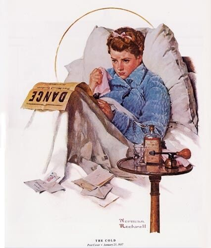Norman Rockwell Missing the Dance Print THE COLD