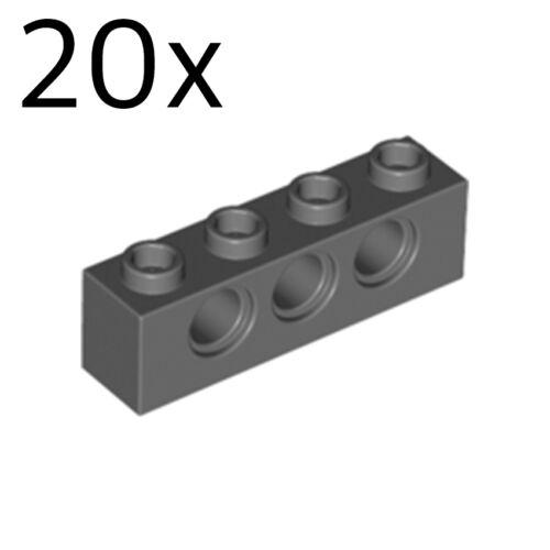 Brick 1x4 with Holes 3701 4213607 LEGO 20x Dark Bluish Gray Technic