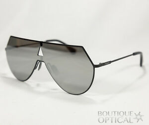 54a5979703e New!! Fendi Eyeline Aviator Sunglasses 0193 S Flat Black   Silver ...