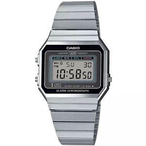 Casio-Orologio-Unisex-Digitale-Collezione-Vintage-Silver-Nero-A700W-1ADF