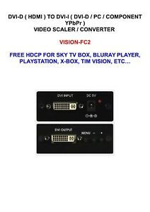 DVI-HDMI-TO-DVI-I-PC-COMPONENT-VIDEO-SCALER-CONVERTER-VISION-FC2-FREE-HDCP-MYSKY