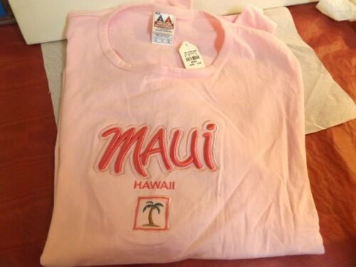 Maui T-shirt Light Pink Tee Shirt Short Sleeve by Maui Clothing Co. XL NWT supplier