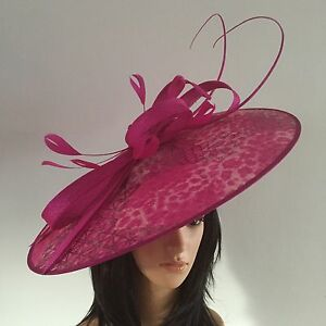 d485576a0 Details about PETER BETTLEY FUCHSIA GOLD WEDDING ASCOT HATINATOR HAT MOTHER  OF THE BRIDE