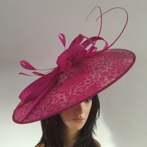 PETER BETTLEY FUCHSIA GOLD WEDDING ASCOT HATINATOR HAT MOTHER OF THE BRIDE