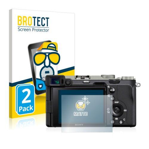2x láminas protectoras de pantalla para Sony Alpha 7c mate antirreflejos