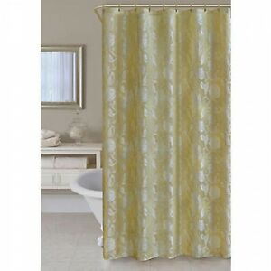 Image Is Loading Essential Home Jenissa Fabric Shower Curtain Gold