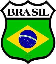 2 X Quantité Brasil Brésil Bouclier Monde Drapeau Imprimé Sticker Choix De
