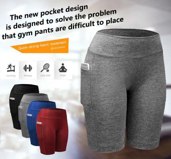 Damen Kurze Sport Shorts Hot Pants Trainingshose Laufhose Sweathose Hose Sommer