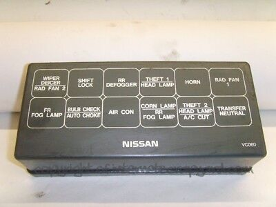 nissan patrol 3 0 manual y61 97 13 relay fuse box top cover trim LHD Nissan Patrol