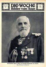 Contrammiraglio Borea d'Olmo della italiana governatore di Tripoli 1911