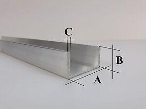 Aluprofil-U-Profile-U-Winkel-Aluminiumprofil-Alu-U-Profil-Aluminium-U-AlMgSi0-5