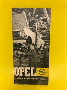 NEU OPEL Sammler Prospekt Werbung Broschüre Werk Rüsselsheim ...