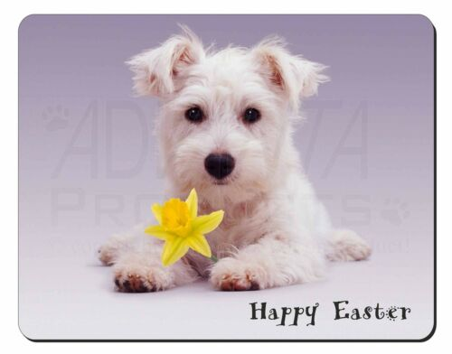 'Happy Easter' Westie Computer Mouse Mat Christmas Gift Idea, ADW7DA1M