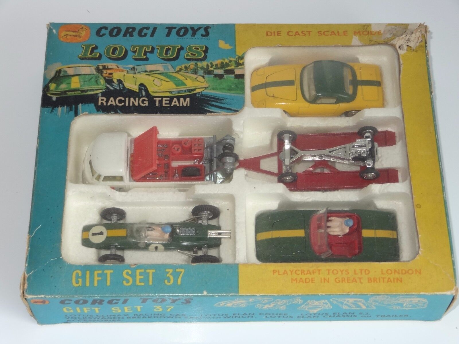 (V) Corgi Giftset Lotus Racing Team-GS 37