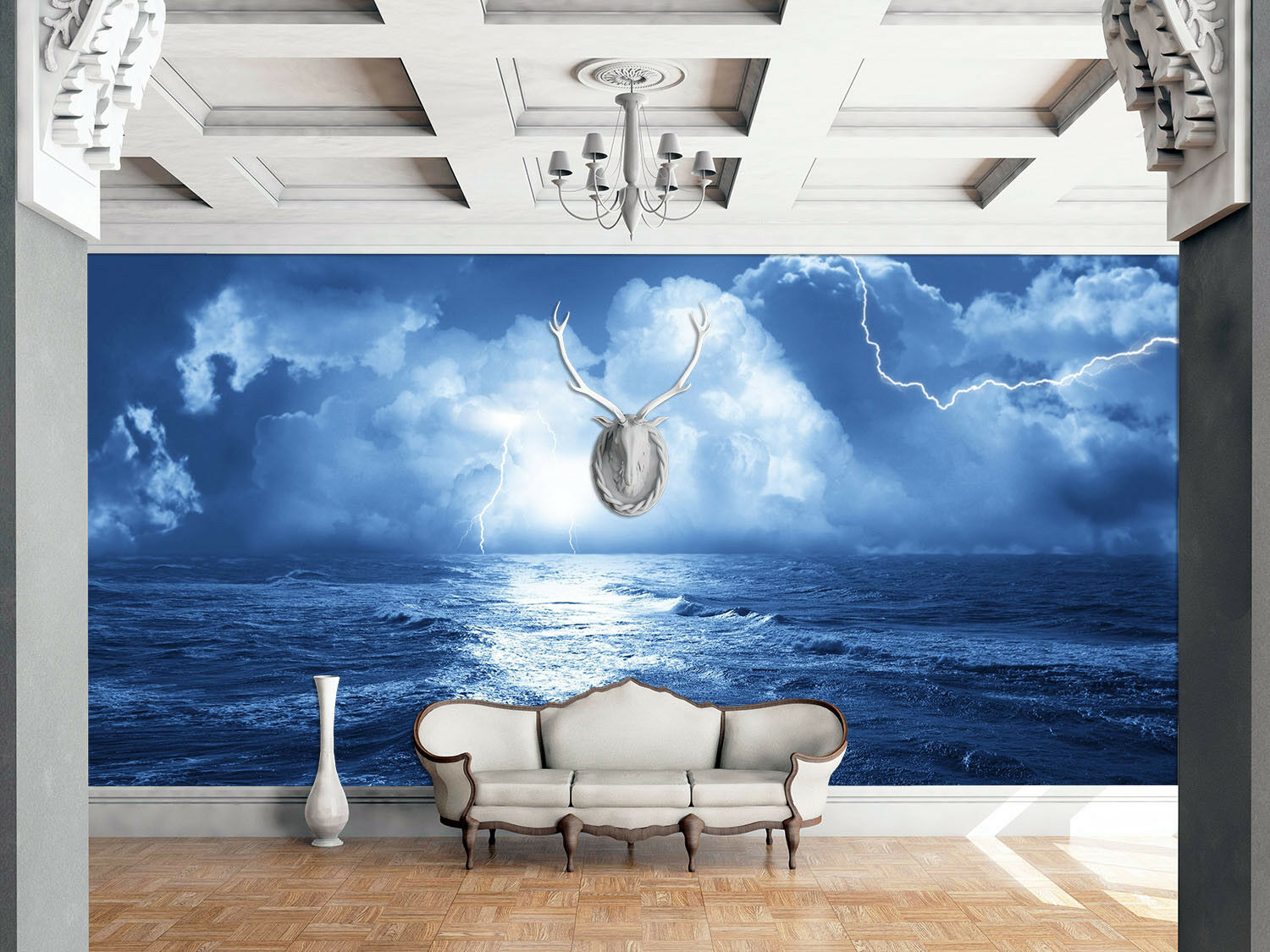 3D Lightning Sky 52 Wallpaper Murals Wall Print Wallpaper Mural AJ WALL AU Kyra