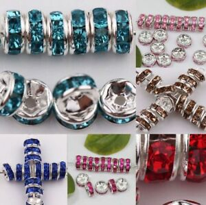 100Pcs-Czech-Crystal-Rhinestone-Glass-Round-Loose-Spacer-Beads-8mm