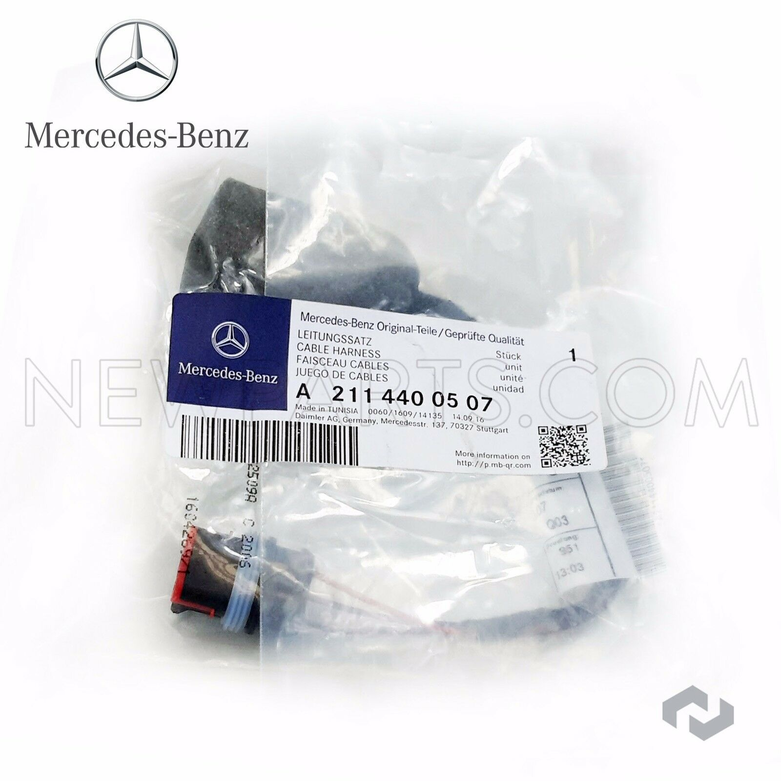 Genuine Mercedes C CL CLK E-Class Fuel Pump Sender Wiring Harness C350 E350 NEW