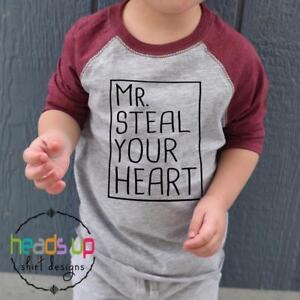 188837294 Toddler or Baby Boy Mr. Steal Your Heart Shirt Valentine's Day ...
